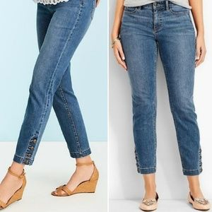 Talbots, Button Ankle Flawless Skinny Jeans, 6